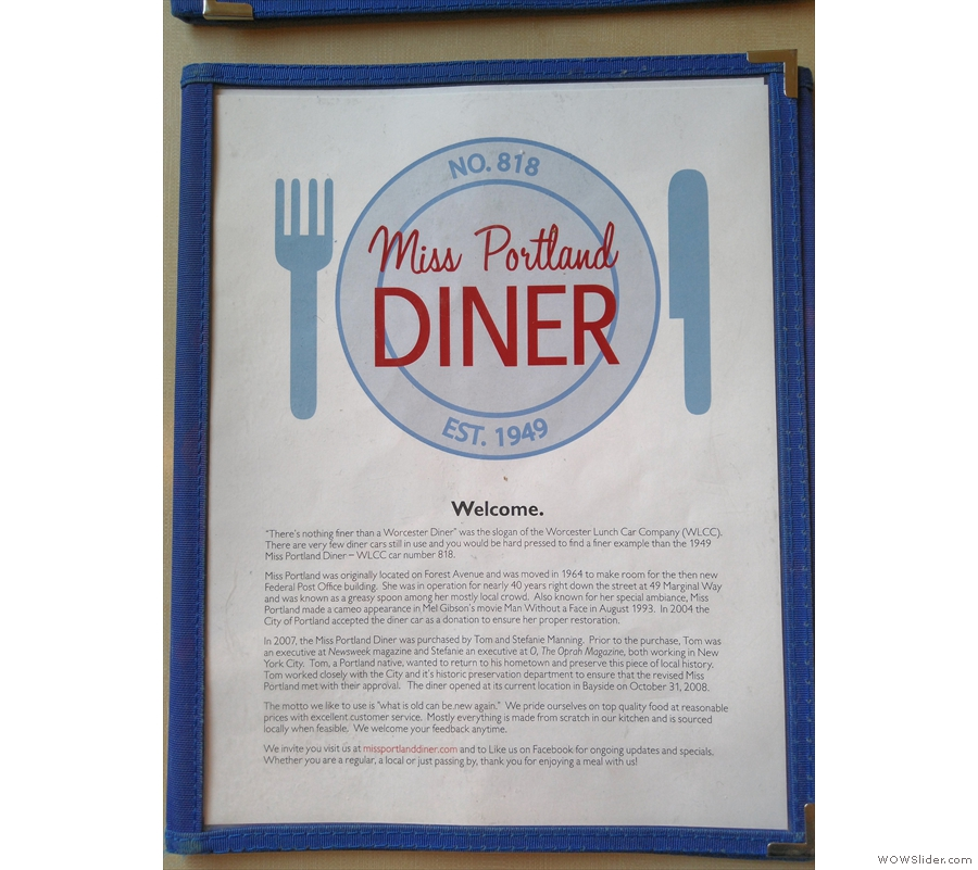 Established in 1949, it's one of the few remaining examples of a Worcester Diner.