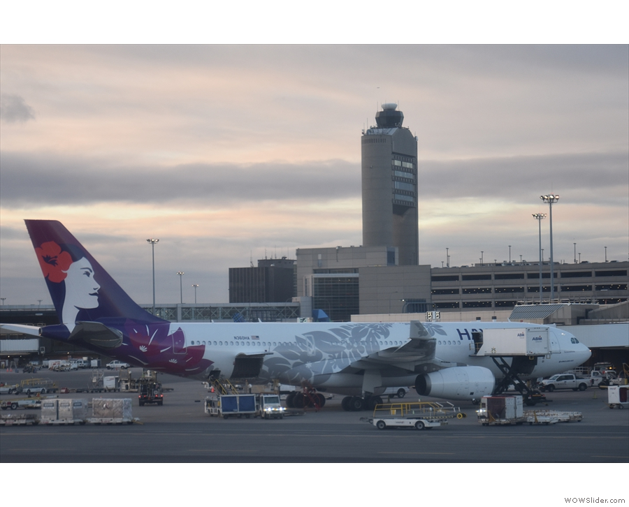 Another A330, this time from Hawaiian Airlines (bound for Honolulu).