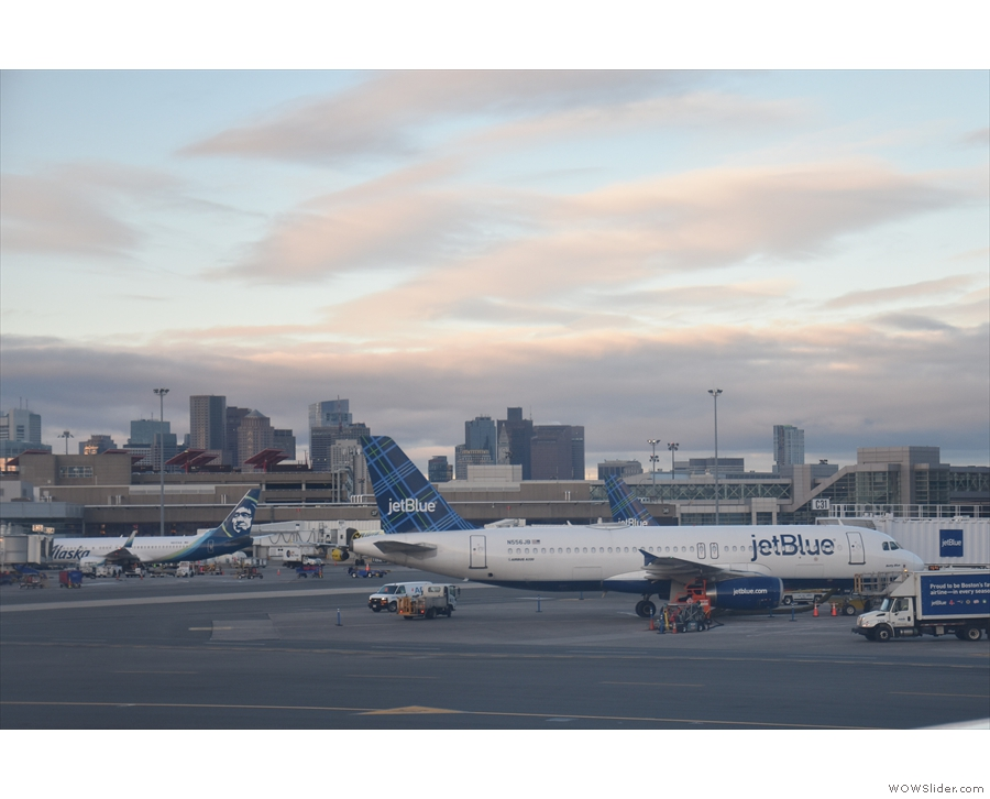 Lots of Jet Blue planes at Boston I see.