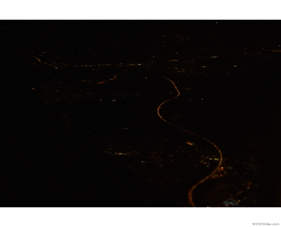 More unidentified lights on our approach to London.