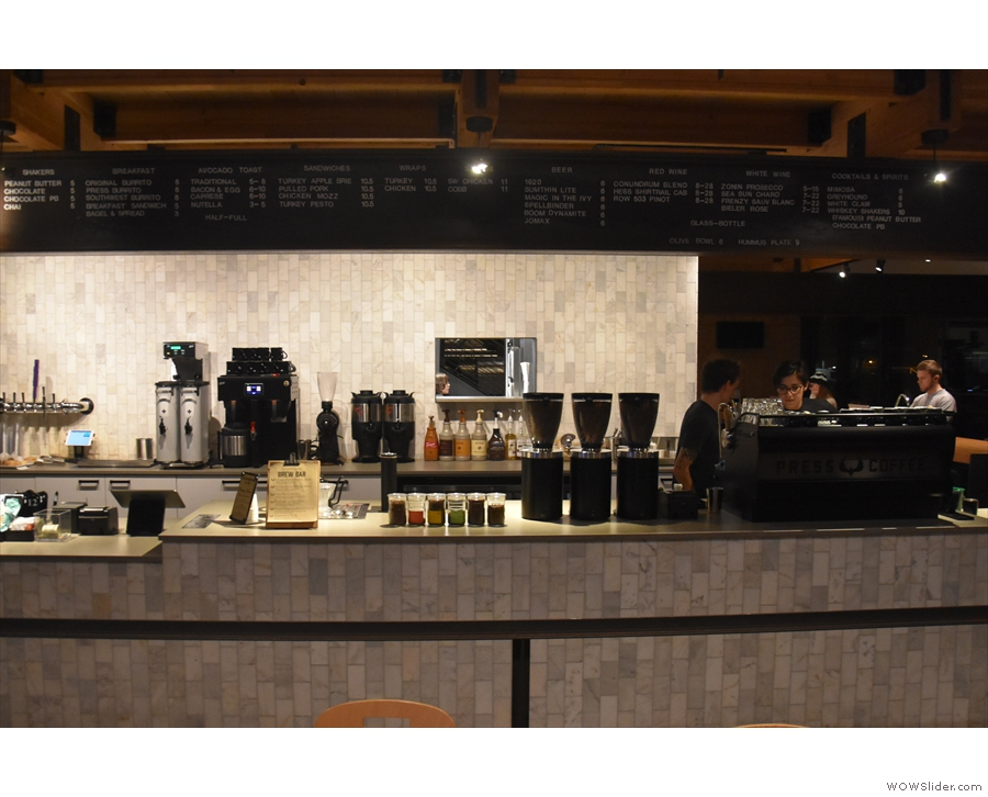 You order at the till, with the rest of the counter, off to the right, occupied by coffee gear.