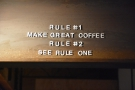 Not a bad set of rules. And talking of great coffee...