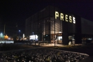 Here's an alternative view of The Roastery at night, where the...
