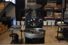 The first roaster is the baby of the three, used for small-batch single-origin roasts.