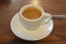 On my first visit in September last year, I started with an espresso...
