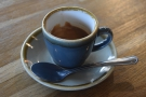 ... being rewarded with this espresso, served in a classic cup...