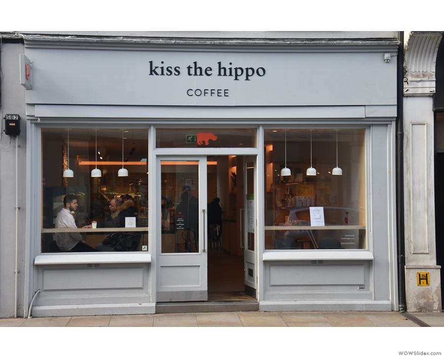... home to the original Kiss the Hippo, which opened in 2018. Let's go in.