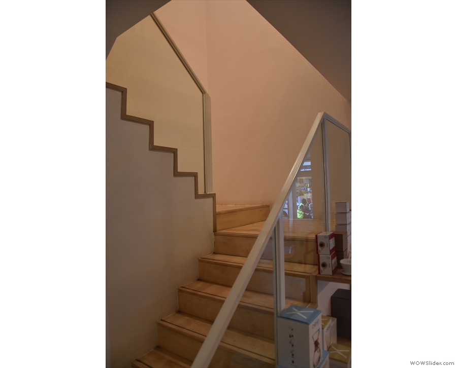 It's not quite a spiral staircase, but the stairs do double back on themselves...