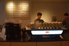 Pride of place goes to the Kees van der Westen espresso machine and its two grinders...