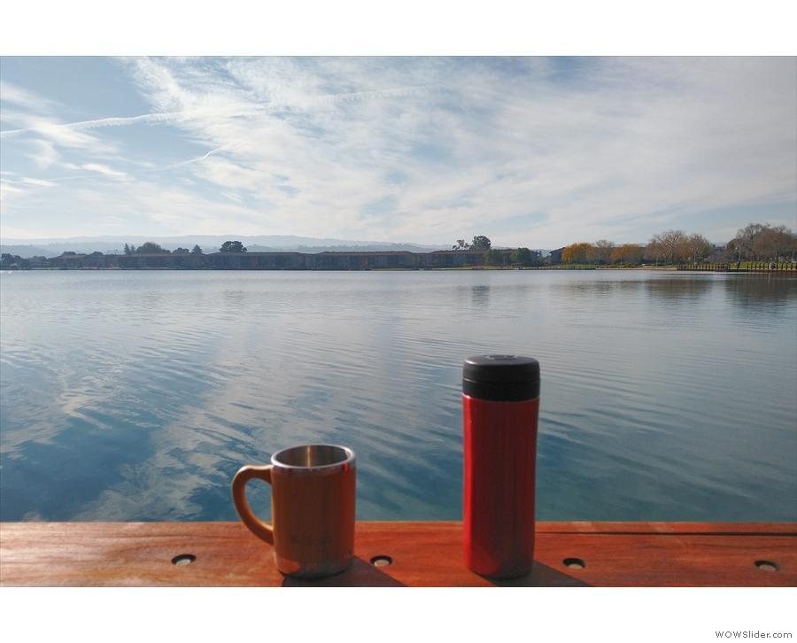 I also took my Travel Press, along with a reusable cup, for a lunch time stroll by the lake.