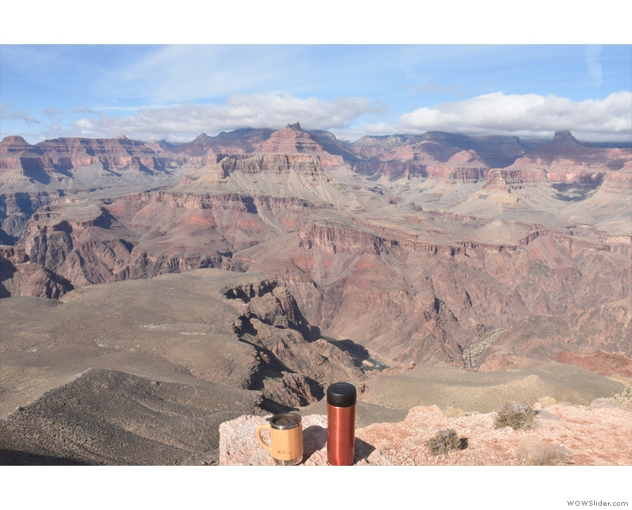 And if you look down, near the top of my Travel Press, you can see the Colorado River!