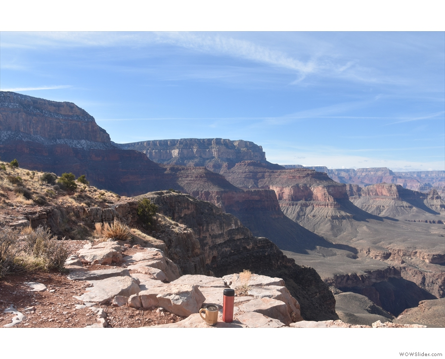 This is the view looking west, along the south rim of the canyon...