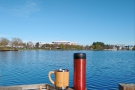 ... and here's my Global WAKEcup looking back towards the office. Such blue skies!