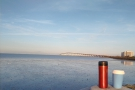 I also managed to take my ThermaCup down to the shore of San Francisco Bay.