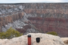 Believe it or not, in the opposite corner, the Bright Angel Trail starts its descent into the...