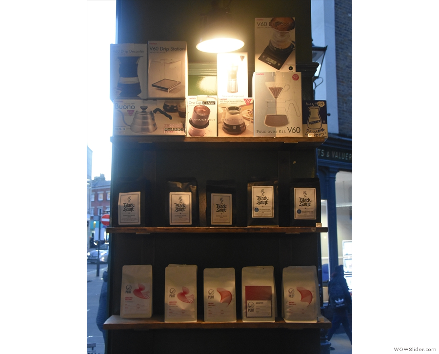 ... and these between the back two windows, which have coffee and coffee kit.