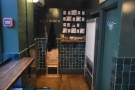 The view looking back to the door and the back of Coffeeology.