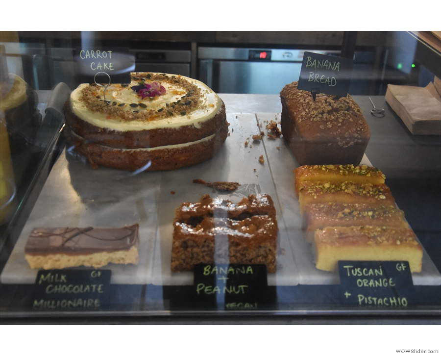 If you're hungry, there's a good selection of cakes...