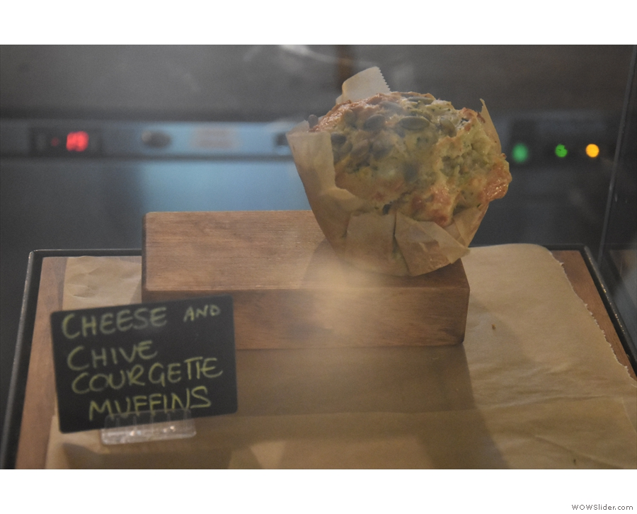 ... and this solitary cheese and chive courgette muffin.