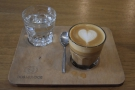 I went with the Honduran San Rafael, one of two choices for espresso, which I had...