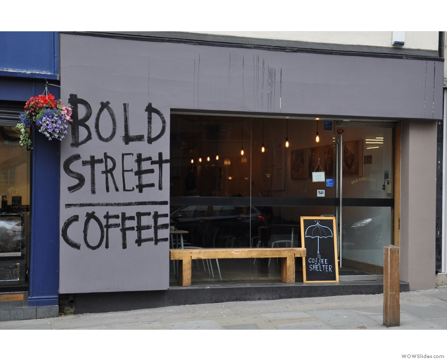 Bold Street Coffee, lovely filter in the heart of Liverpool