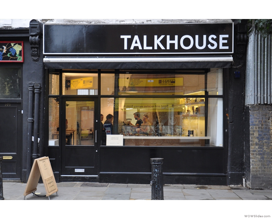 Talkhouse Coffee, lovely filter in the west of London