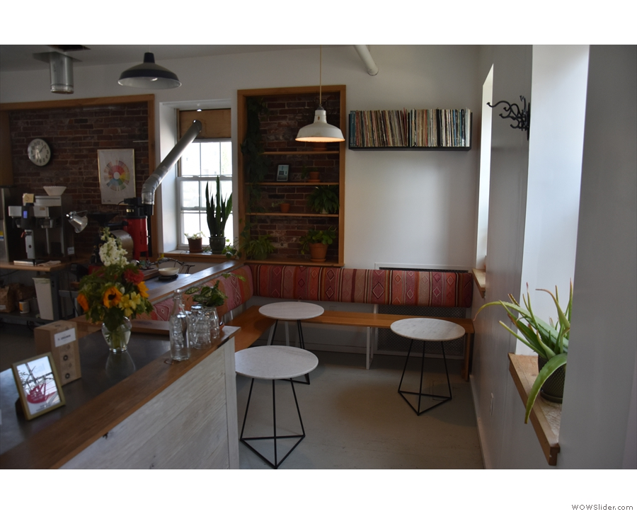 ... is a small, cosy L-shaped seating area. However, it didn't always look like this.