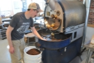 Will, like any good roaster, is always keeping an eye on his beans, checking on the quality.