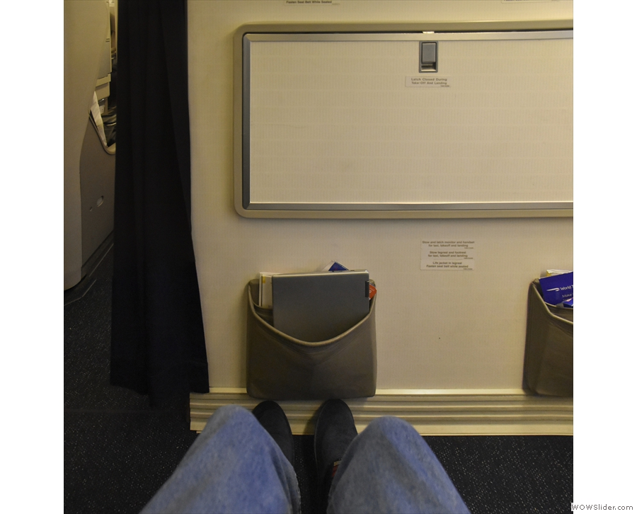 As usual, I had managed to get a bulkhead seat, with plenty of legroom...