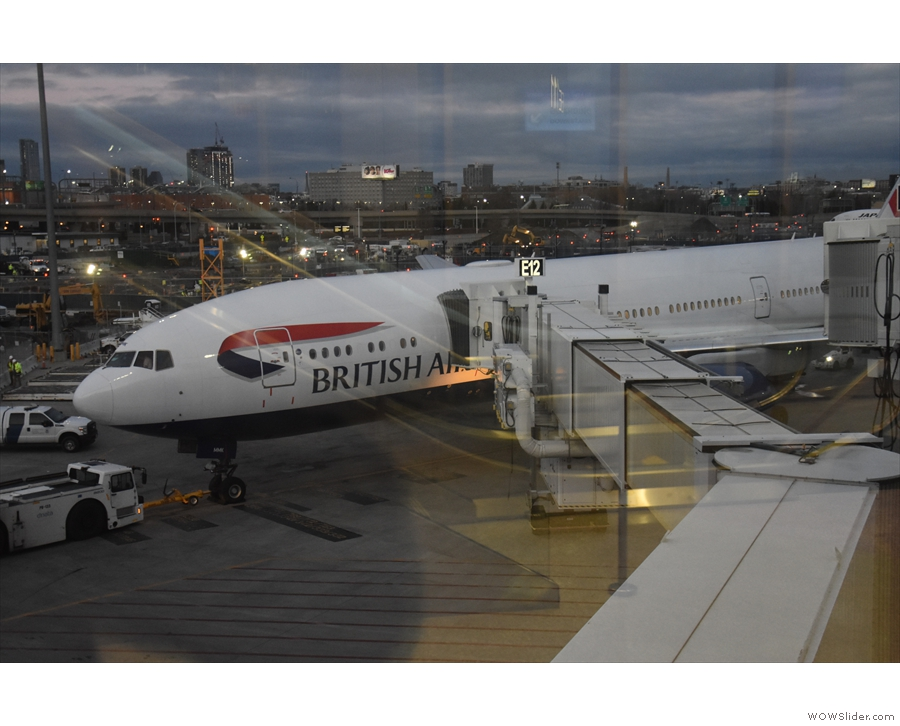My British Airways Boeing 777-200, on the stand, ready to fly back to London Heathrow.