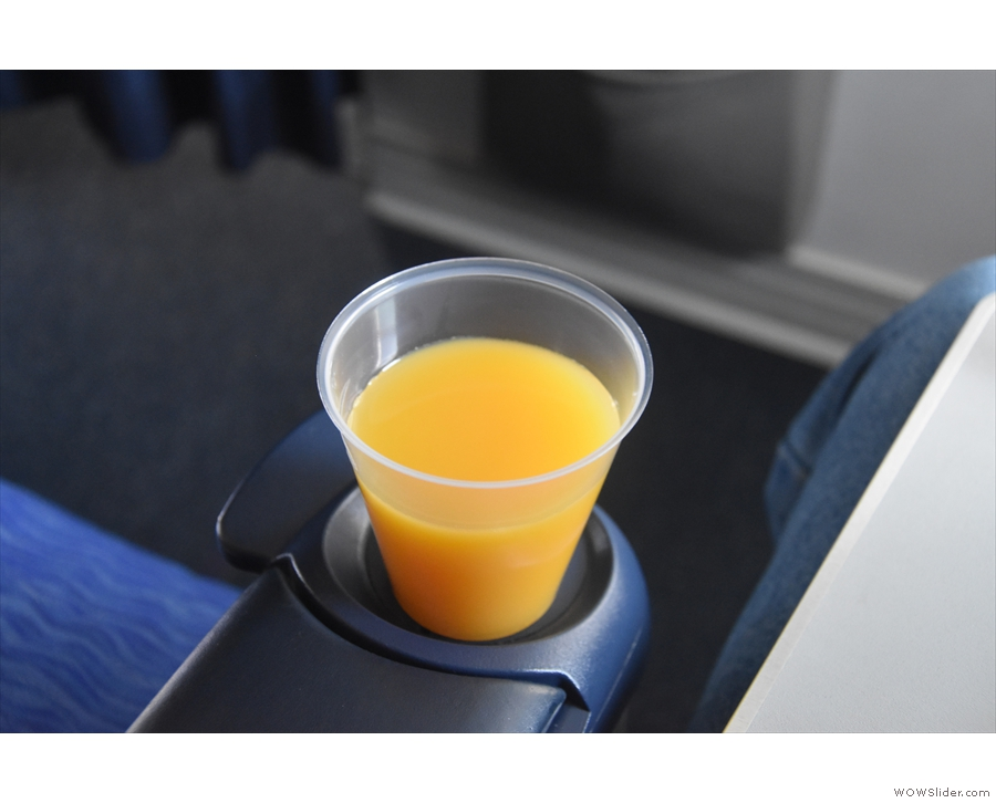 As well as the table, there's a cleverly-designed drinks holder at the end of each armrest.
