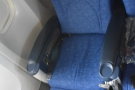 ... reclining the seat. It's not a great picture, but here's my seat in full recline, foot rest up.