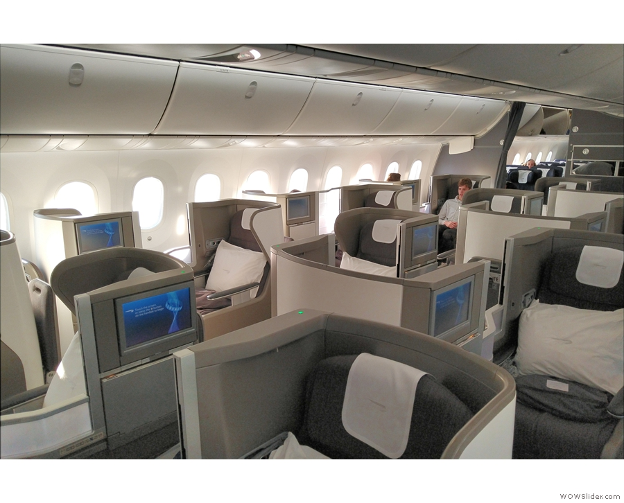 ...  to be in World Traveller Plus, only to receive an unexpected upgrade to Club World!