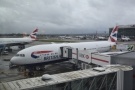 Less than a month later, I'm back at Heathrow and back on a Boeing 777-200 to Boston...