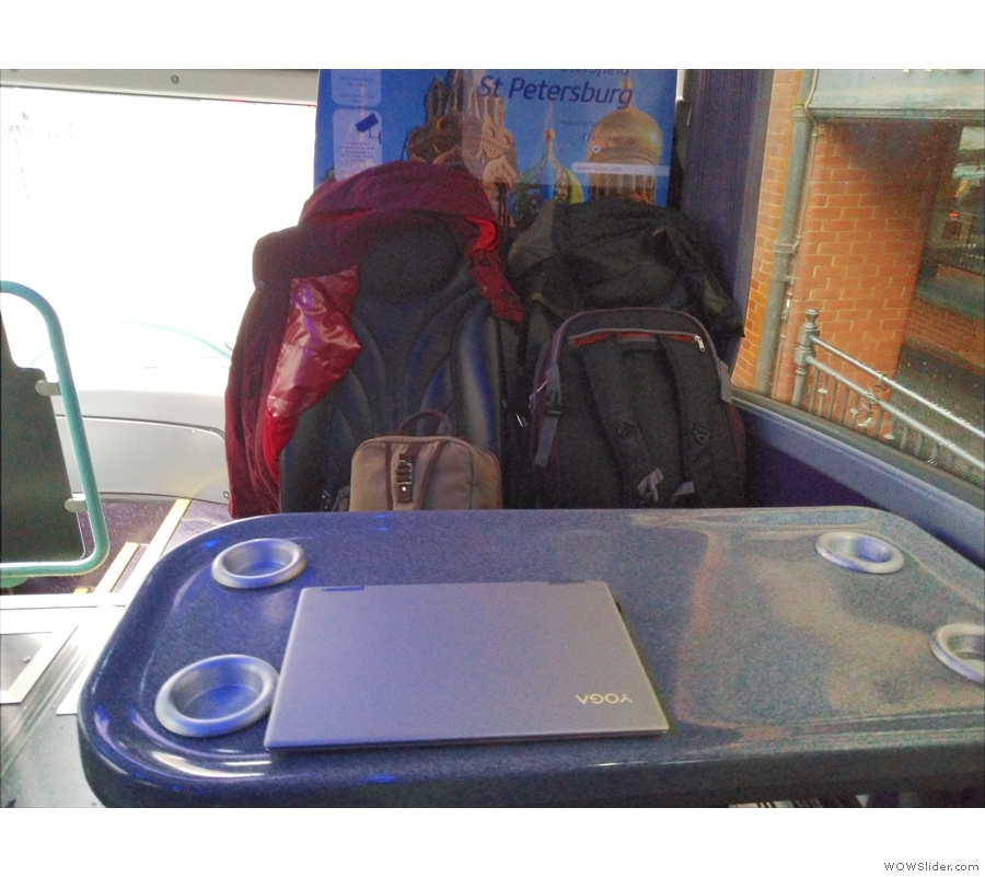 Plenty of space for us, our bags and my laptop.