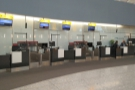 ... check-in area with its own bag drop desks and everything! Well, I'll know for next time.