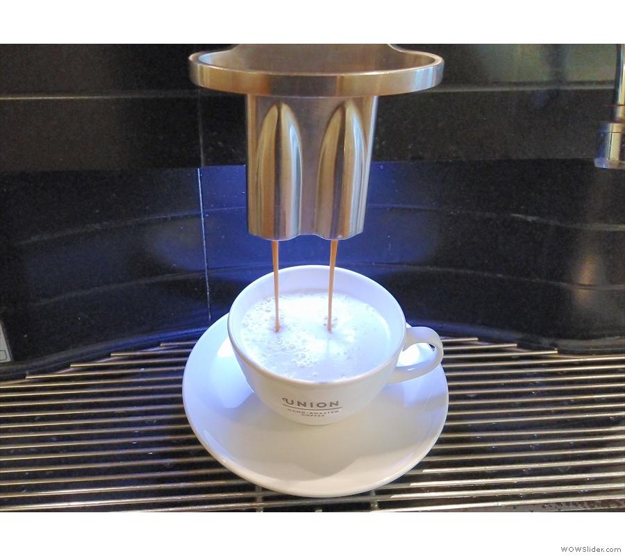 A cappuccino for Amanda...