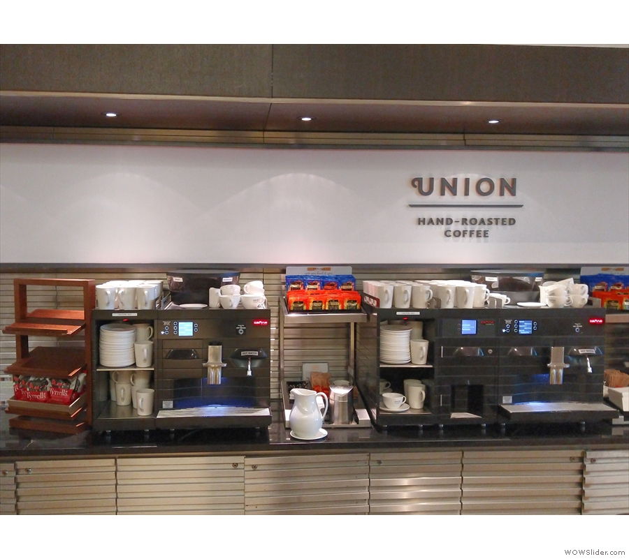 We had time for coffee: Union-hand roasted, of course.