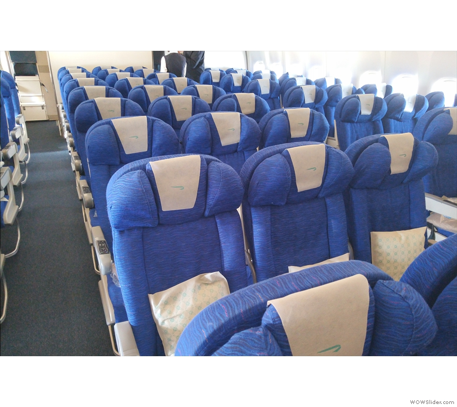 The rest of the World Traveller cabin. Don't be fooled by the empty seats: the flight...