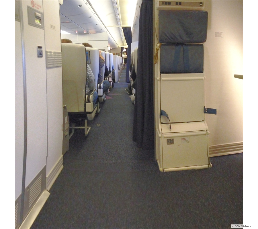We could see all the way down through World Traveller Plus and Club World to the galley.