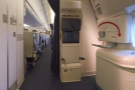 I really do like these seats. The flight crew have a jump seat opposite...