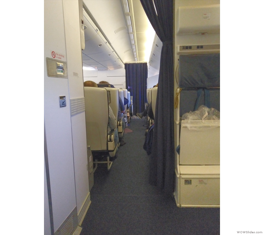 Unusually, the cabin crew left the curtain open between us and World Traveller Plus.