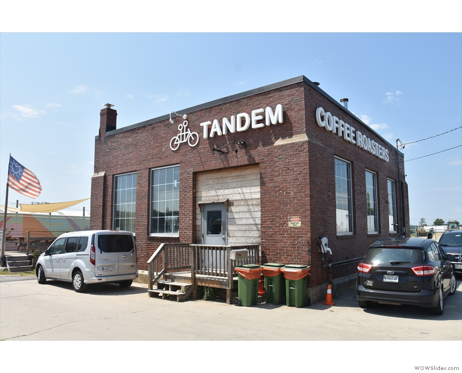 ... and the (new to me at the time) Tandem Coffee Roastery behind it.