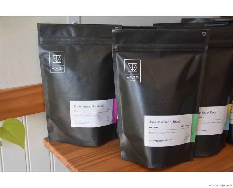 ... and a selection from Vivid Coffee Roasters in Vermont.