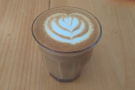Amanda and I visited last summer for breakfast. I had a cortado, served in a glass...