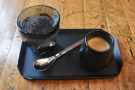 ... first ordering the Eugenioides as an espresso, served with a glass of sparkling water...