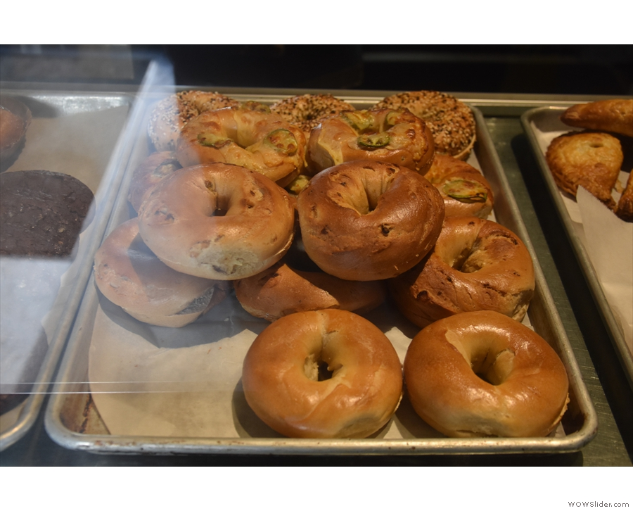 There was plenty of choice, including bagels...
