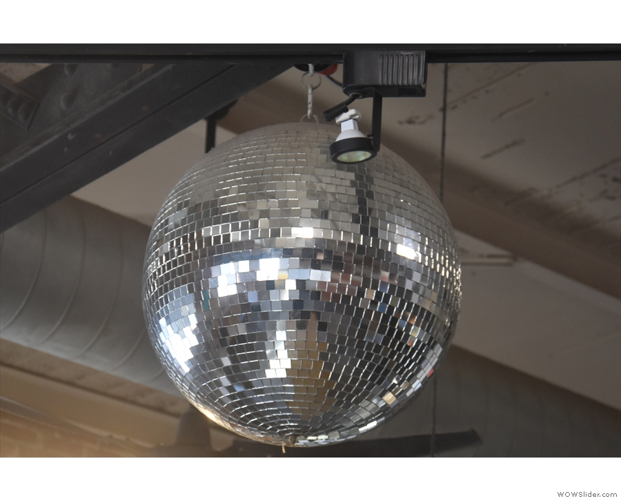 There's also a glitter ball, because, let's face it, who doesn't love a glitter ball?