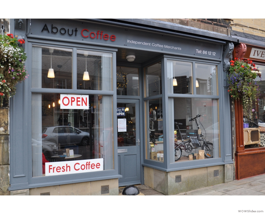 About Coffee, bringing fine coffee to the town of Colne