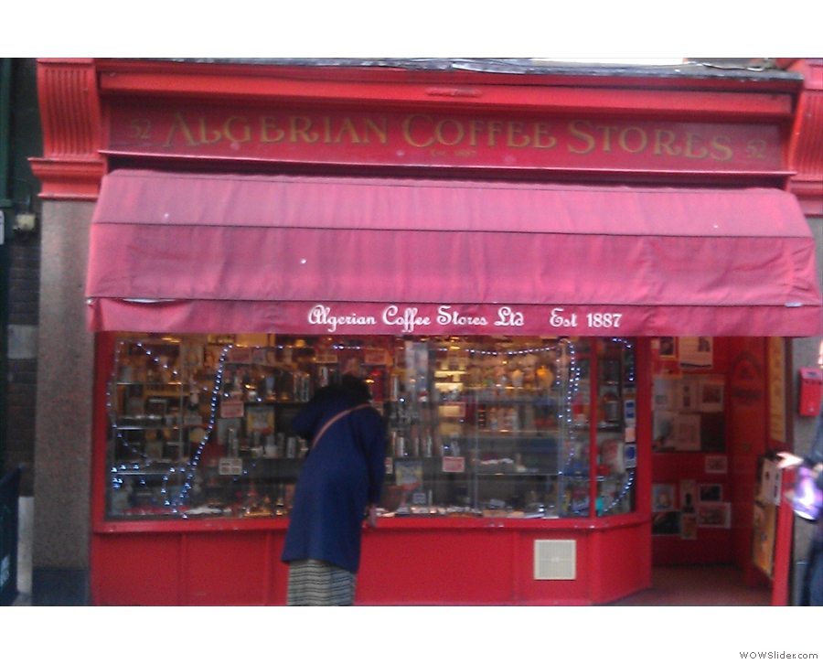 Algerian Coffee Stores on Old Compton Street, Soho